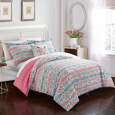 Helga Geometric Reversible Duvet Set Size: Twin
