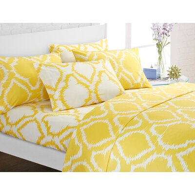 Wallin 6 Piece Sheet Set Color: Yellow, Size: King