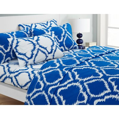 Wallin 6 Piece Sheet Set Color: Blue, Size: Queen