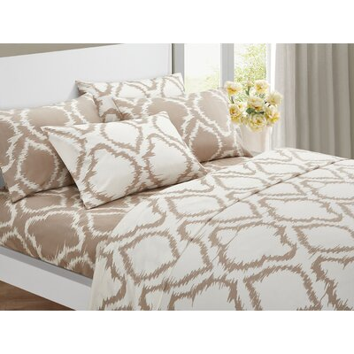 Wallin 6 Piece Sheet Set Color: Beige, Size: King