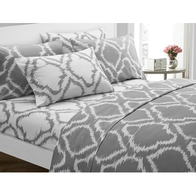 Wallin 6 Piece Sheet Set Color: Gray, Size: King