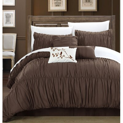 Francesca 7 Piece Comforter Set Size: King