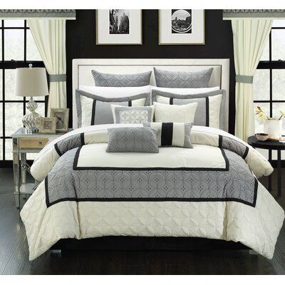 Aida 24 Piece Comforter Set Size: Queen