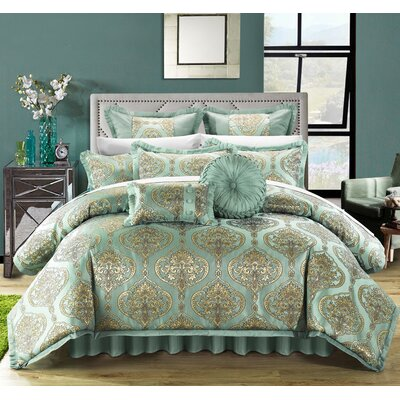 Como 13 Piece Comforter Set Size: King, Color: Blue