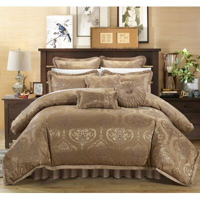 Como 13 Piece Comforter Set Size: King, Color: Gold