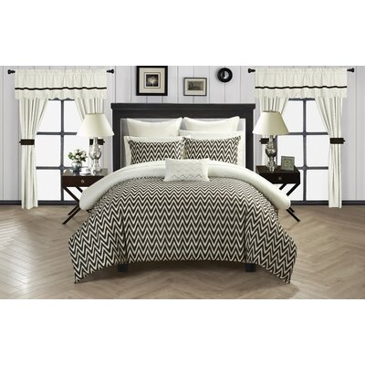 Jacksonville 20 Piece Reversible Bed Size: Queen, Color: Beige