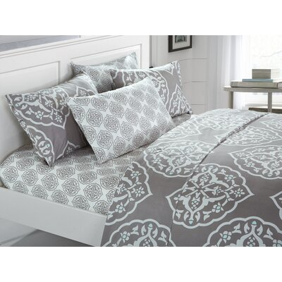Audington 6 Piece Microfiber Sheet Set Size: Queen, Color: Gray