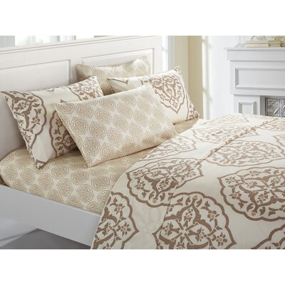 Audington 6 Piece Microfiber Sheet Set Size: King, Color: Beige
