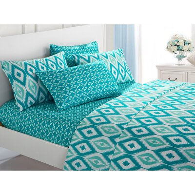 Asceanna 6 Piece Microfiber Sheet Set Color: Aqua, Size: King