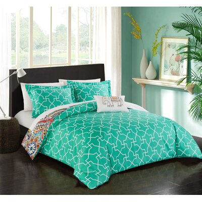 Onghoue Reversible Duvet Set Size: Queen