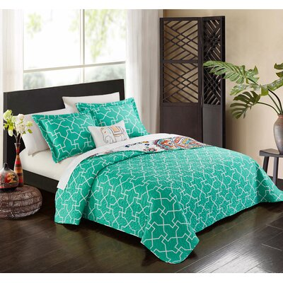 No�l 6 Piece Reversible Quilt Set Size: Twin