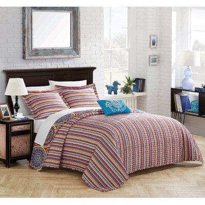 Harlingen 8 Piece Reversible Quilt Set Size: Queen