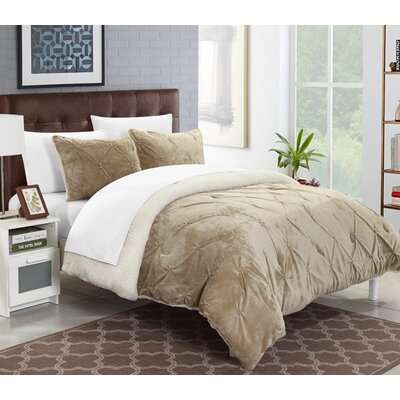 Fontane 7 Piece Bed in a Bag Set Color: Beige, Size: Queen