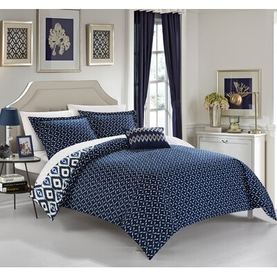 Trang 3 Piece Reversible Duvet Set Color: Navy