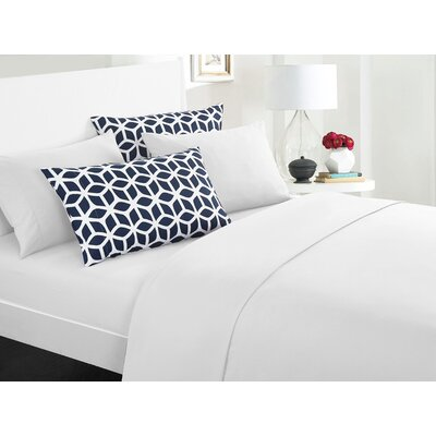 Norfleet Contemporary Sheet Set Size: King, Color: White
