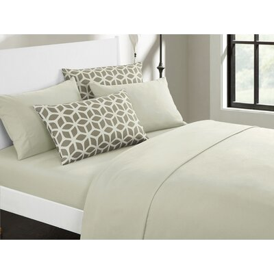 Norfleet Contemporary Sheet Set Size: King, Color: Beige
