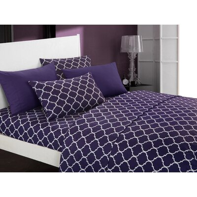 Hargrave Modern Sheet Set Size: King, Color: Plum