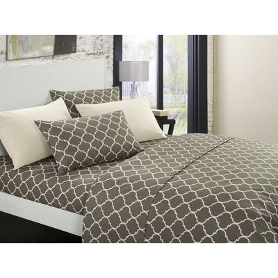 Hargrave Modern Sheet Set Size: King, Color: Taupe