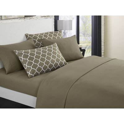 Hargrave Solid Sheet Set Size: Queen, Color: Taupe