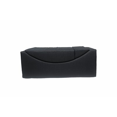 Volkman Convertible Lounge Bench Upholstery: Black