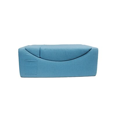 Volkman Convertible Lounge Bench Upholstery: Blue