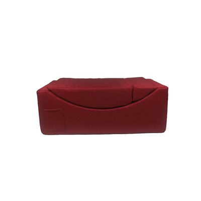 Volkman Convertible Lounge Bench Upholster: Red