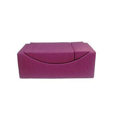 Volkman Convertible Lounge Bench Upholstery: Fuchsia