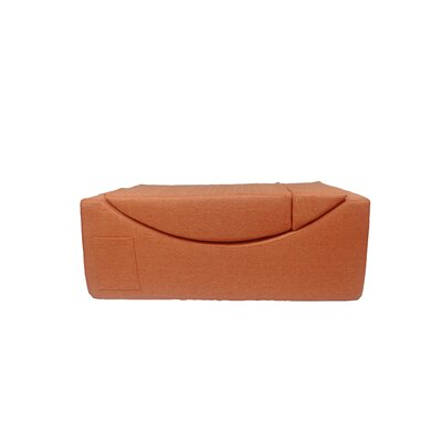 Volkman Convertible Lounge Bench Upholstery: Orange