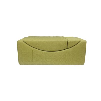 Volkman Convertible Lounge Bench Upholster: Green