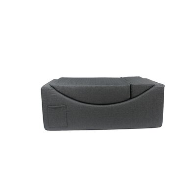 Volkman Convertible Lounge Bench Upholstery: Gray