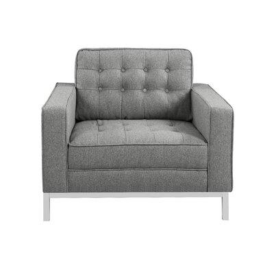 Draper Armchair Upholstery: Gray
