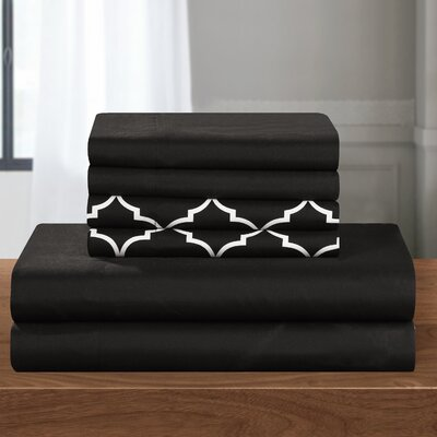 Nailwell 6 Piece Sheet Set Size: King, Color: Black
