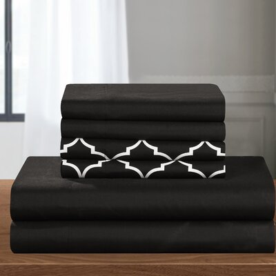 Nailwell 4 Piece Sheet Set Color: Black
