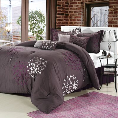 Chic Home Cheila 8 Piece Comforter Set - Size: Queen, Color: Plum at Sears.com