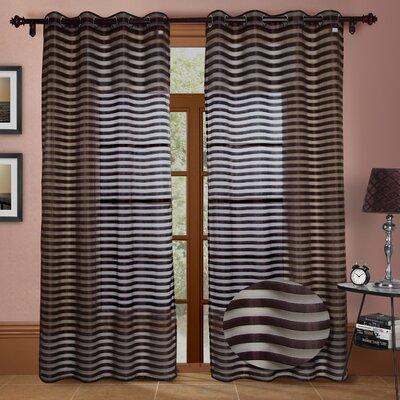 Chic Home Heidi Faux Silk Organza Grommet Curtain Panels (Set of 2) - Color: Aqua