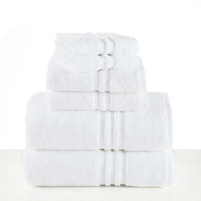 Unity 6 Piece Towel Set Color: Optical White