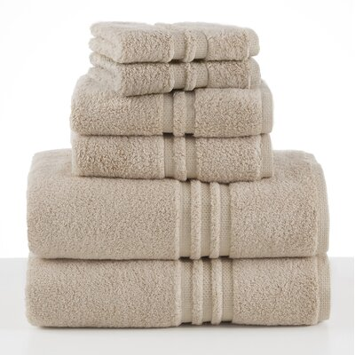 Unity 6 Piece Towel Set Color: Canvas