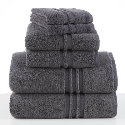 Unity 6 Piece Towel Set Color: Slate