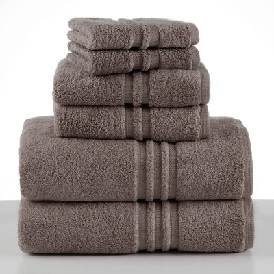 Unity 6 Piece Towel Set Color: Mushroom