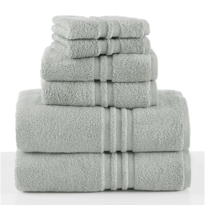 Unity 6 Piece Towel Set Color: Green
