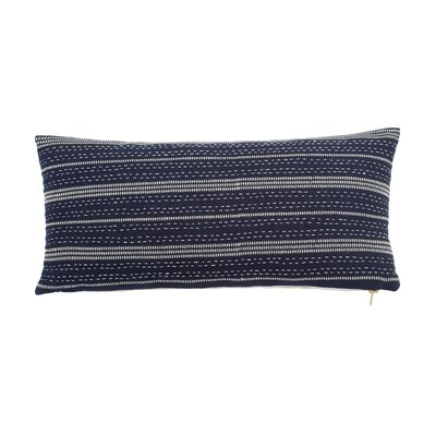 Shibori Chic Cotton Lumbar Pillow