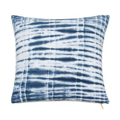Shibori Chic Cotton Throw Pillow