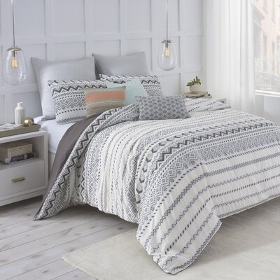 Abstract Aztec Reversible Duvet Cover Set Size: Twin
