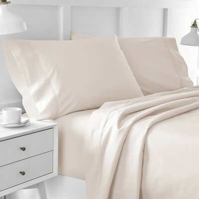 Edgelands 200 Thread 100% Cotton Sheet Set Color: Blush Pink, Size: Twin