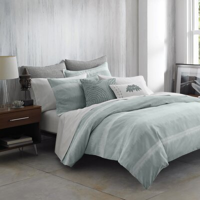 Nurturer Duvet Cover Size: King, Color: Mineral Blue
