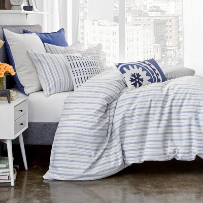 Amalfi Stripe Reversible Duvet Set Size: Twin