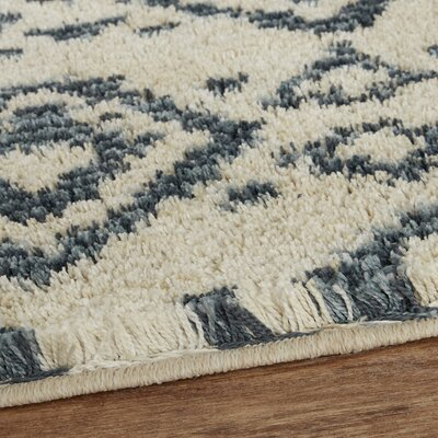 Mohawk Laguna Tangier Blue/Cream Area Rug Rug Size: Rectangle 8 x 10