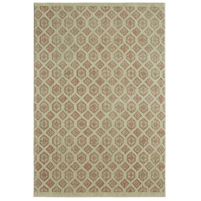 Mohawk Studio Majorca Beige/Coral Area Rug Rug Size: Rectangle 8 x 10