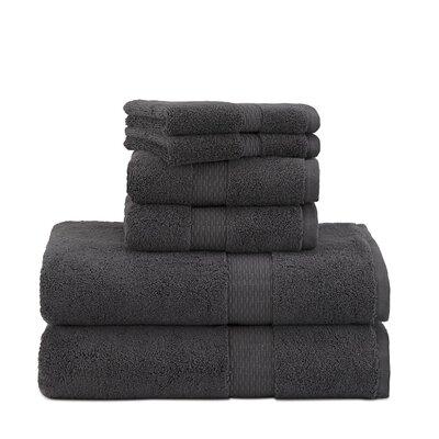 Under the Canopy Organic Cotton 6 Piece Towel Set Color: Charcoal