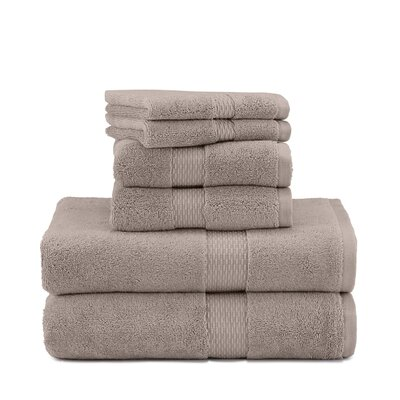 Under the Canopy Organic Cotton 6 Piece Towel Set Color: Stone